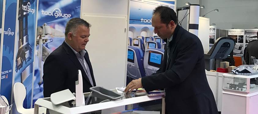 Tool Gauge trade show booth